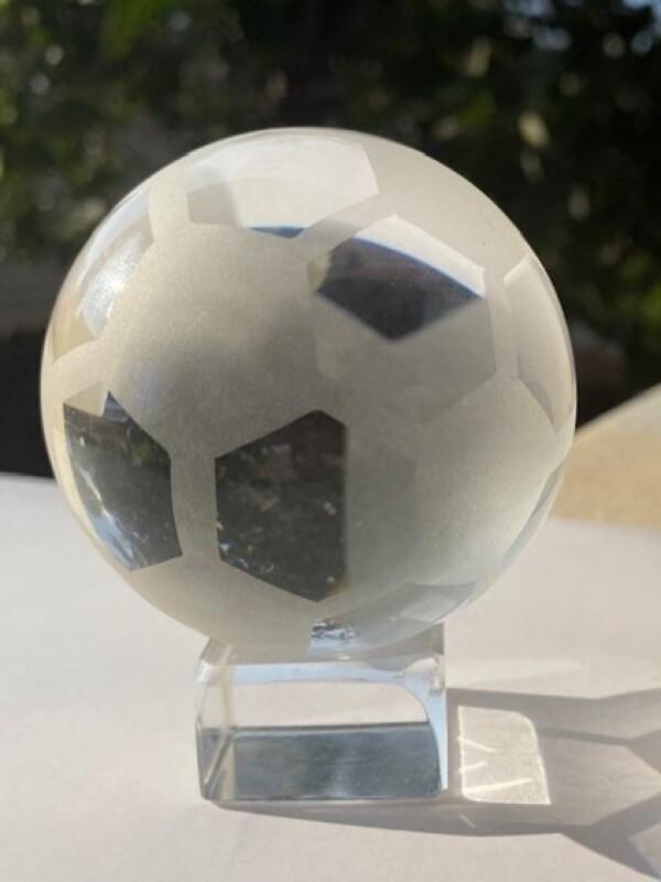 Glass Soccer Ball Trophy