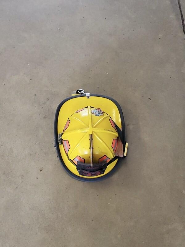 Yellow Firefighter Helmet